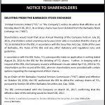 Bdos stock exchange delisting - Bdos