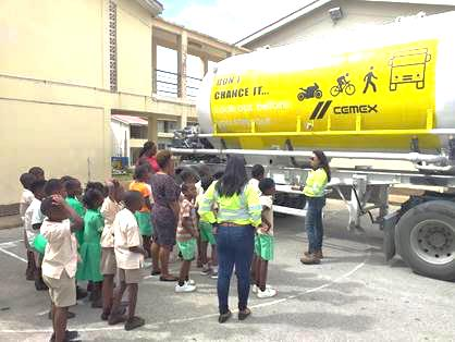 Students were captivated by the branded truck
